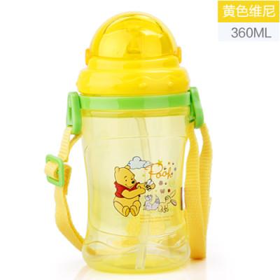 迪士尼吸管杯宝宝夏季儿童水杯米奇防漏喝水杯子婴儿