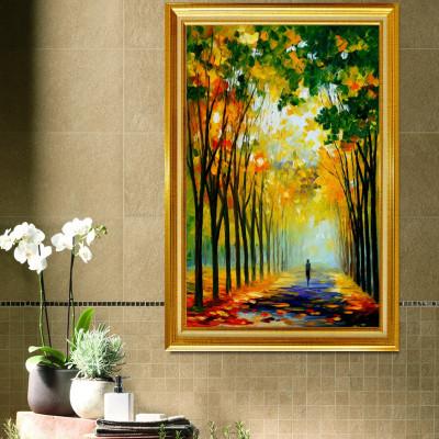 美式乡村装饰画餐厅背景墙画风景田园复古板画客厅壁画有框画怎么样