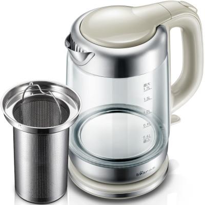 bear/小熊 zdh-a17a1电水壶 家用大容量茶具 办公玻璃电热烧水壶