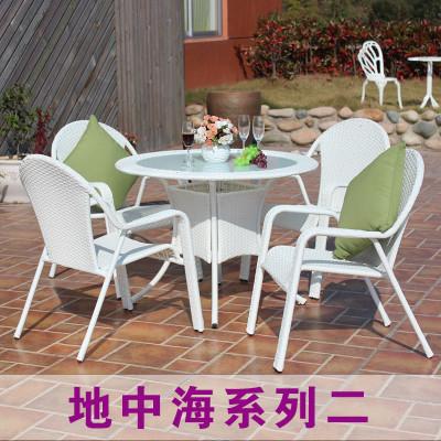 黄金花园 白色特价藤椅子休闲露台阳台喝茶桌椅欧式铁艺三五件套怎么
